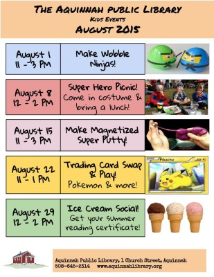 August 2015 kids events
