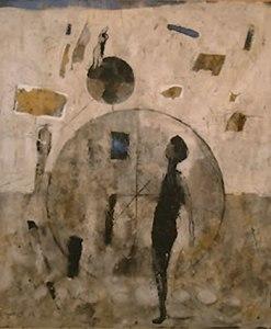 """""""بدون عنوان"""" 2003 محمد القاسمي - تقنية حرة على قماش 160 × 135 صم"""