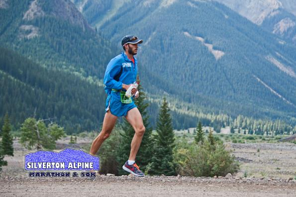 Dennis Pollow Jr. leads the 50K early on near Eureka at mile 8