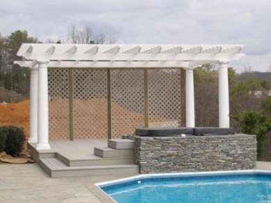 Freestanding PergolaTapered Round Columns