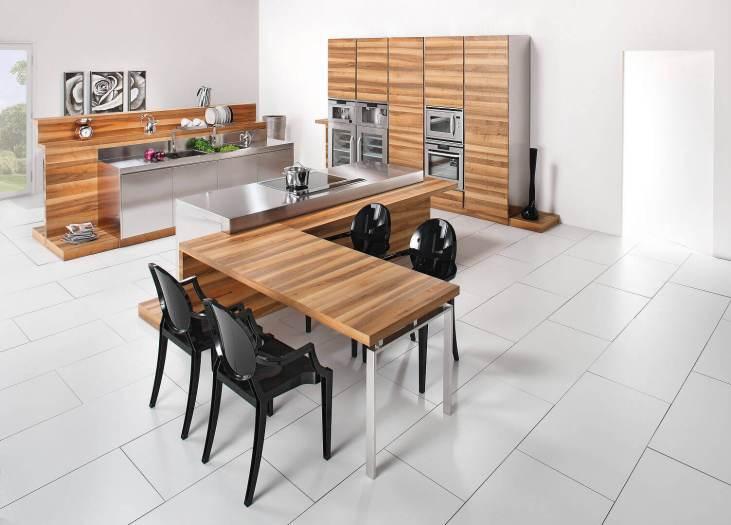 Arca Italian Kitchen - Kitchens Milf Stainless Steel - Hd - table
