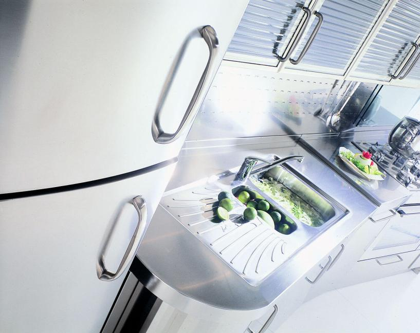 Arca Italian Kitchen - Kitchen maid in Stainless Steel and Glass - Wagon - Sink
