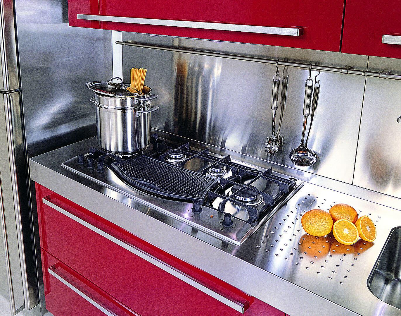 Mebel arca cucine italia cucine in acciaio inox - Cucine in acciaio inox ...