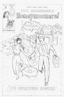 Honeymoon Comic Cover ~ Client: Joe Hausfeld ~ Chicago, IL ~ 2011 (Pencils)