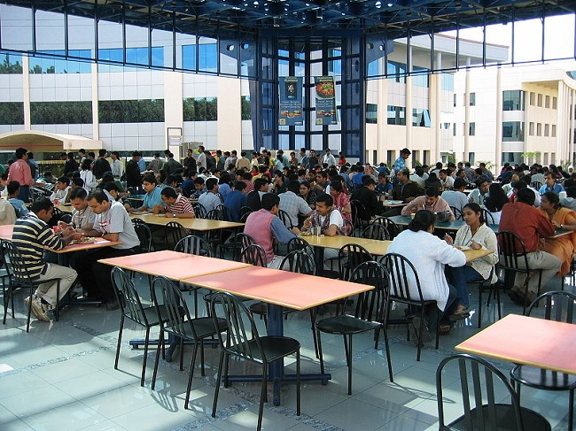 Cafeteria in a Corporate Office