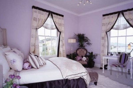 purple and white in bedroom combination10