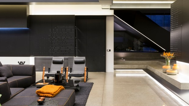 Living room interior in Kloof Road House