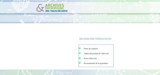 archives des Hauts de Seine