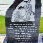 Close-up of one of the stones at the Benwood Mine Disaster Memorial at the Boggs Run Road site. Photo by Seán Duffy.
