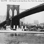 First Yarnall destroyer East River New York City 1930. US Navy Historical Center photo.