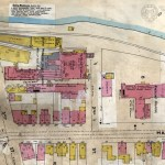 This 1902 Sanborn Map shows the location of North Wheeling Glass Company just south of Wheeling Hospital.