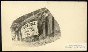 Real Photo Postcard: Roseby's Rock. Personal collection of William Burke.
