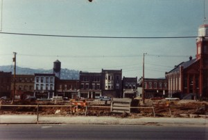 Site of the demolished Wheeling High School on Chapline Street. Herb Bierkortte Collection, courtesy Brian Wilson.