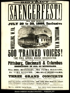 1885 Wheeling Saengerfest Poster. Courtesy Oglebay Institute.