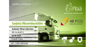 tarjeta descuento incombustible