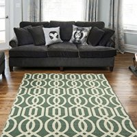 """Teal and Beige Contemporary Moroccan Trellis Design 8 by 10 Modern Area Rug (7'10""""X9'10"""")"""