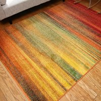 Radiance ant6002_6x8 Art Collection Contemporary Modern Lines Gradient Wool Area Rug, 5'2 x 7'3, Multicolor