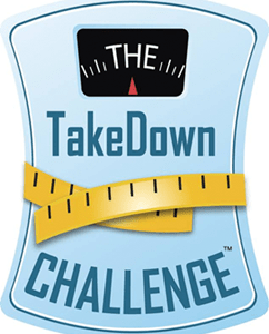 This is the logo for the TakeDown Challenge 28 day weight loss contest