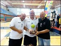 Los Hermanos Gavilán Molina de Argamasilla de Calatrava, jugadores aficionados de pádel, campeones de España en el torneo Intercomunidades celebrado en Benidorm