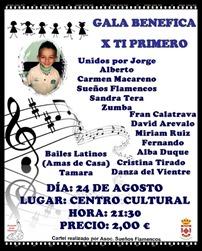 Las asociaciones de Argamasilla de Calatrava organizan una gala benéfica de numerosos artistas para apoyar a Jorge, un niño enfermo de la localidad