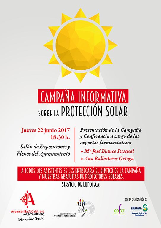 El Ayuntamiento de Argamasilla de Calatrava presenta este jueves una campaña propia para fomentar la protección solar