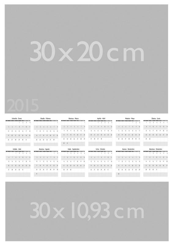 Plantilla para Calendario 2015- personalizable