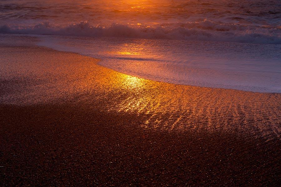 Playa de Anglet al atrdecer - Angeluko ondartza ilunabarrean
