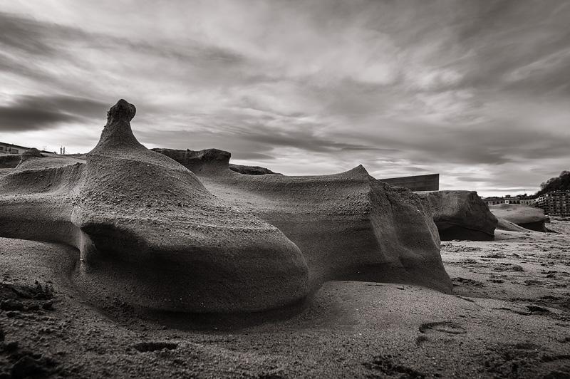formaciones rocosas Zurriola 1