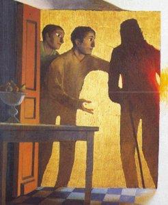 Arcabas, Pellegrini di Emmaus