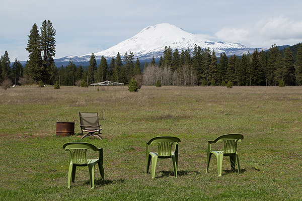 Seats in front of Mt Adams at ECETI