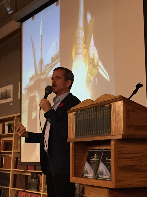 Chris Hadfield speaking on his book tour on Nov 7th, 2014