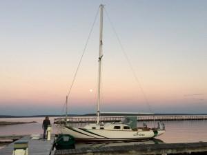 End-of-season moonrise
