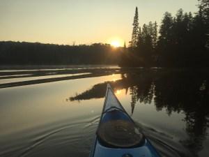 Back paddling Trout Lake.