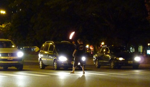 Buenos Aires traffic light entertainment