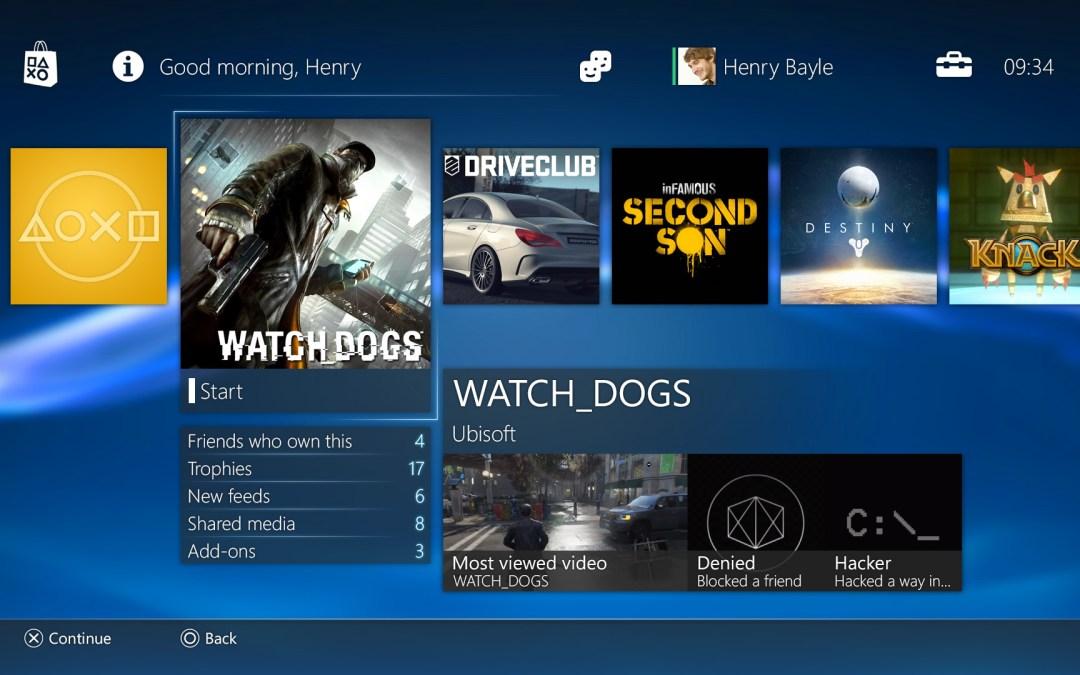 Sony nos muestra a fondo el nuevo interfaz de PS4