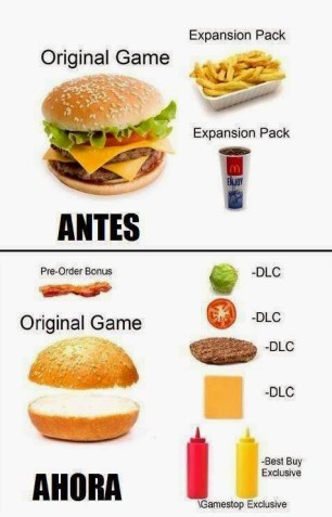 compracion-juegos-hoy-en-dia-hamburguesa-sin-dlc