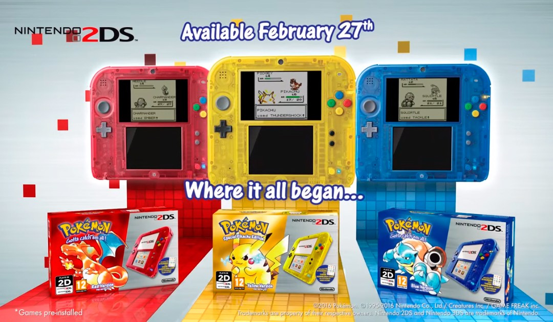 Trailer de Pokémon Red, Blue & Yellow para Nintendo 3DS y 2DS