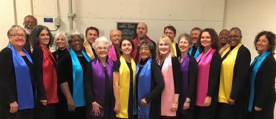 The Metropolitan Washington Baha'i Chorale before a recent performance