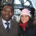 Darfur Rehabilitation Project founder Yahya Osman with ANCA Eastern Region executive director Karine Birazian