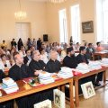 Participants listening intently the first day of the conference in the Old Theological Seminary at Holy Etchmiadzin
