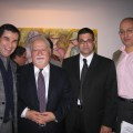 (L-R) Gallery owner Serge Gregorian, Carnegie Corporation of New York president Vartan Gregorian, ATP deputy director Jason Sohigian, and ATP supporter Jean-Marie Atamian.