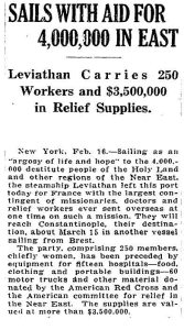 One of the first shipments of American aid to the Near East The Washington Post February 17 1919 167x300 Cuba, China, Korea, Hawaii and the Armenian Genocide