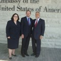 U.S. Ambassador to Georgia John Bass (center) with ANCA Chairman Ken Hachikian and Communications Director Elizabeth Chouldjian