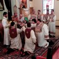 Archbishop Khajag Barsamian ordained acolytes and sub-deacons during a recent visit to Holy Trinity Church of Cheltenham, Pa.