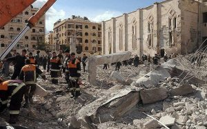 Aleppo bombing 300x187 Between a Rock and a Hard Place: The Armenians in Syria