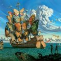 'Departure of the Winged Ship' by Vladimir Kush
