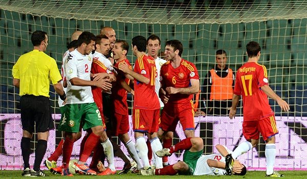 Photolure Soccer: Ghazaryan and Pizzelli See Red as Armenia Falls to Defeat in Sofia