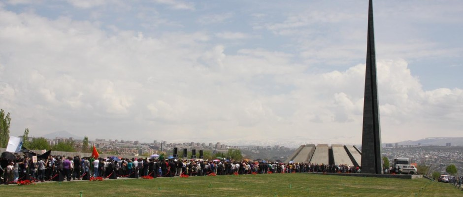 A scene from the Armenian Genocide Memorial in Yerevan on April 24, 2012 (Photo by Nanore Barsoumian)