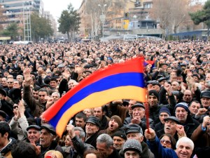 Barevolution rally in Yerevan earlier this year. (Photo by Khatchig Mouradian)