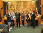 City of Burbank Armenian Genocide Commemoration proclamation at the Council chambers